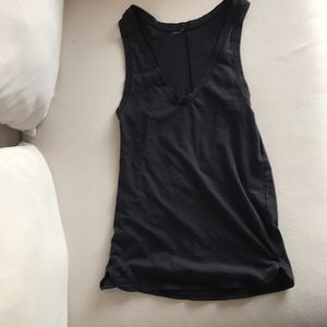 Black lululemon V-neck tank